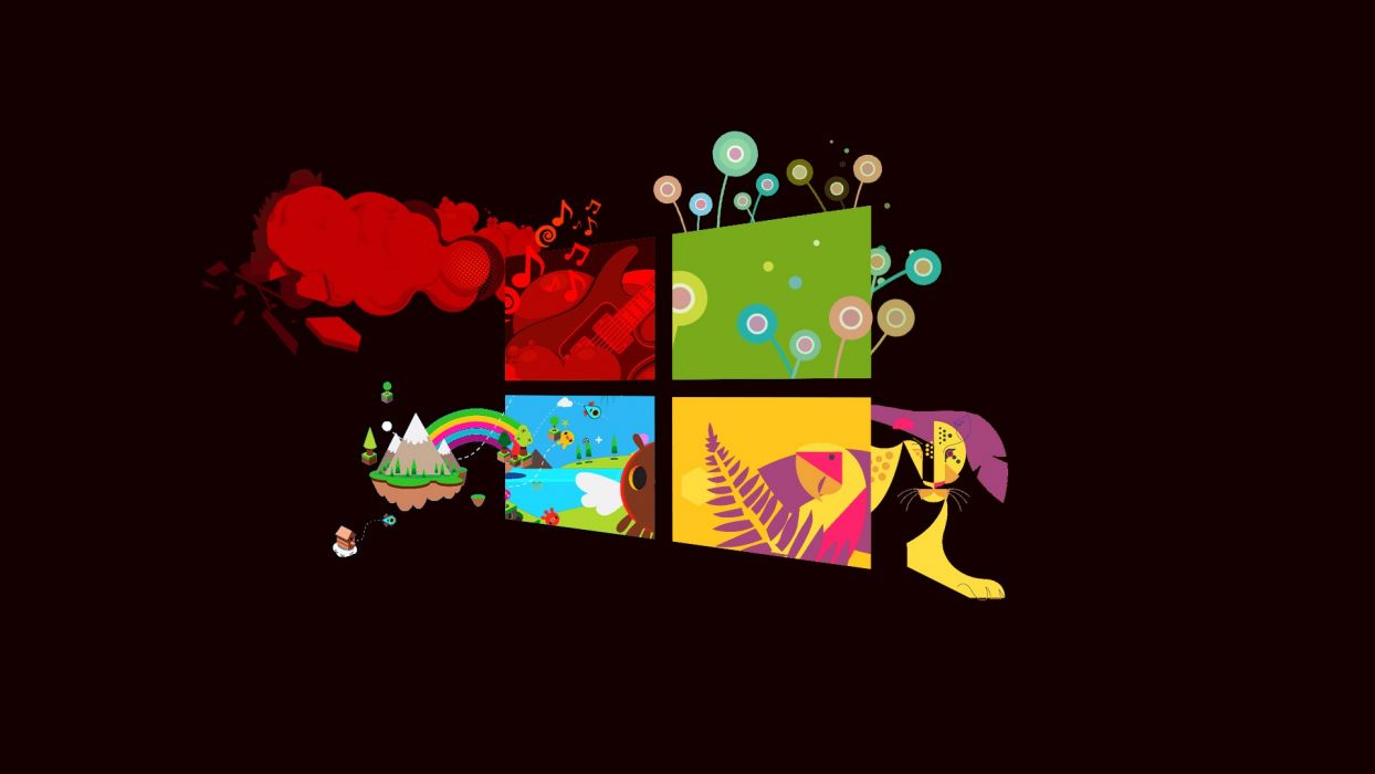 red Windows 8 windows  wallpaper