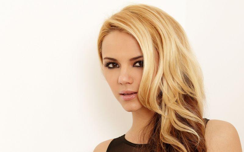 blondes women Ashlynn Brooke faces wallpaper