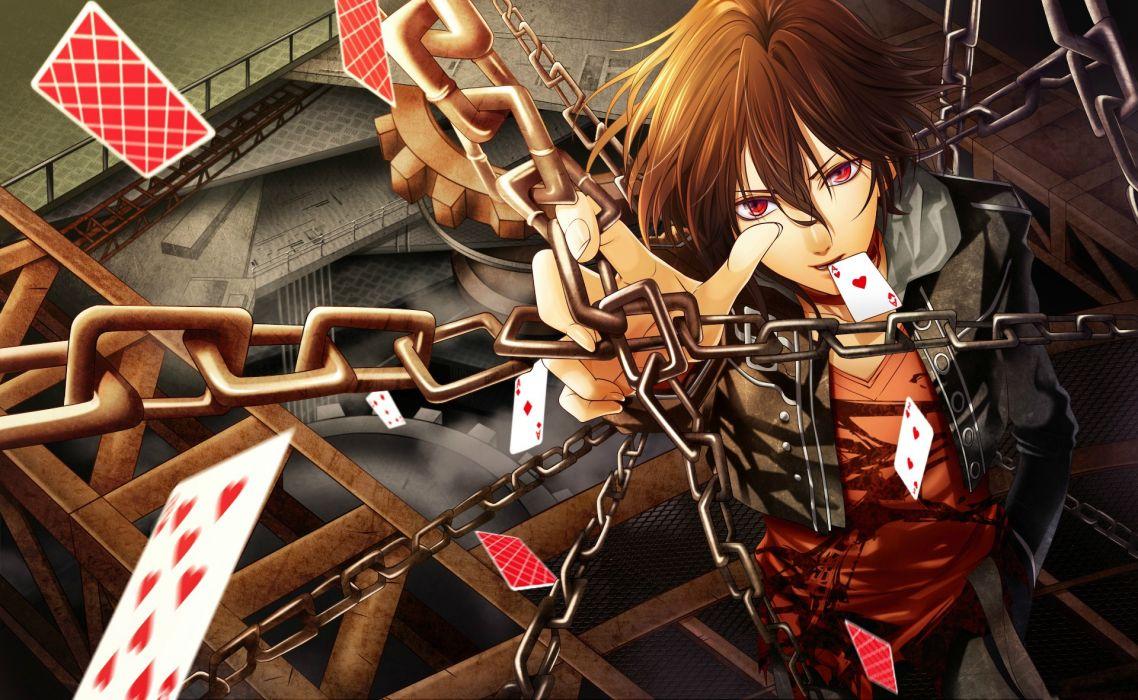 cards anime manga chains wallpaper