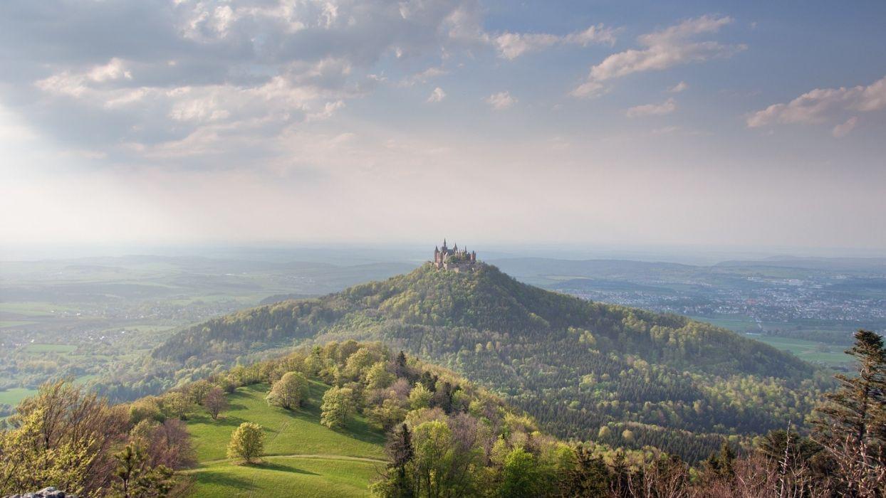 landscapes nature castles forests Hohenzollern wallpaper