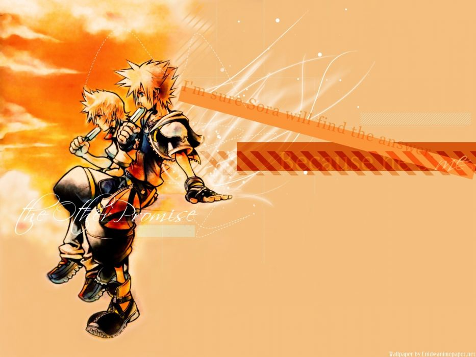 Kingdom Hearts Sora Kingdom Hearts Roxas Popsicles Wallpaper