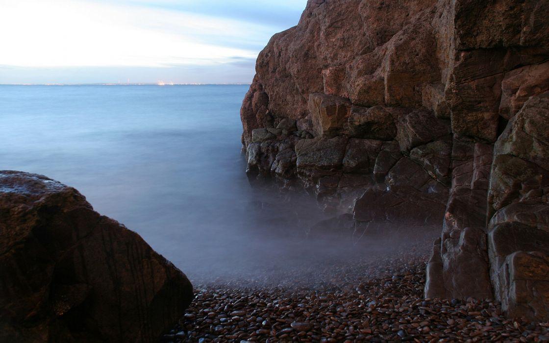 landscapes cliffs sea wallpaper