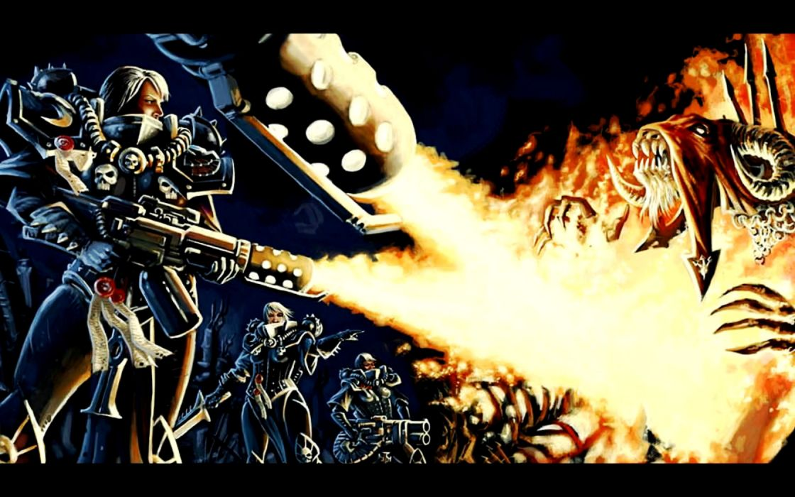 Warhammer battles Adeptus Sororitas Battle Sisters witch hunters 40k wallpaper