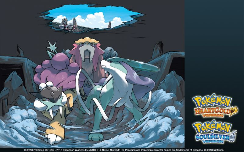 Pokemon Entei Suicune Raikou wallpaper