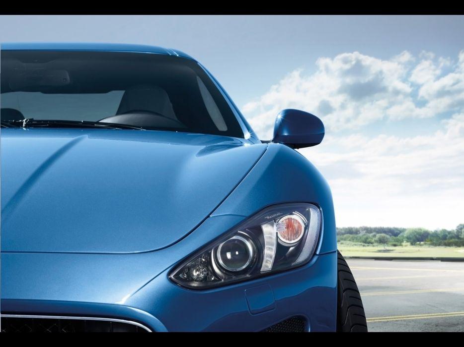 cars Italian vehicles Maserati GranTurismo headlights wallpaper