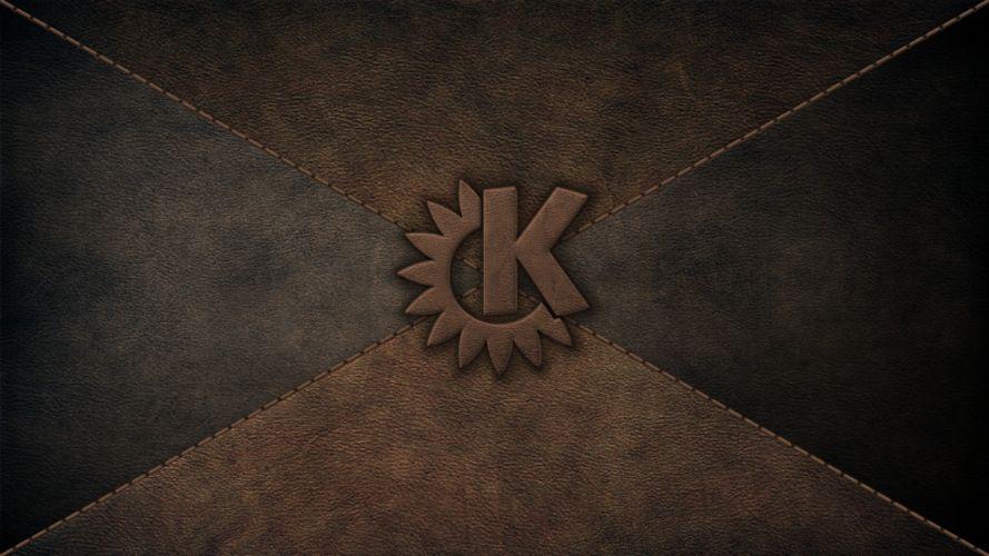 leather computers kde logos softwares wallpaper