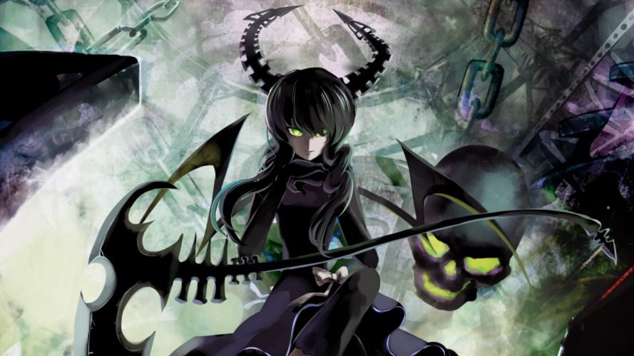 Black Rock Shooter Dead Master anime anime girls wallpaper