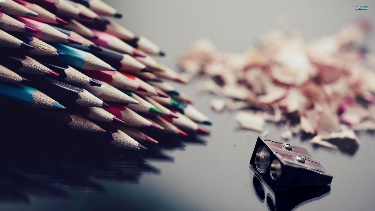 multicolor school macro pencils colored pencils wallpaper