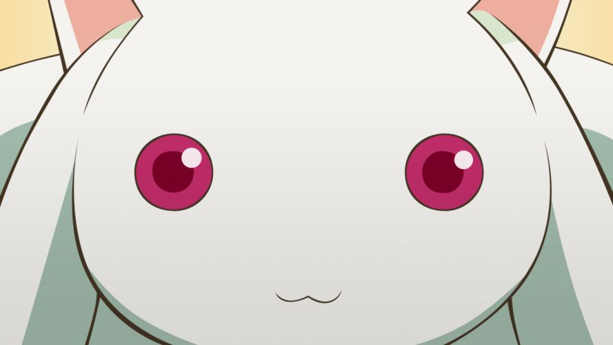 red eyes Mahou Shoujo Madoka Magica anime Kyubey wallpaper