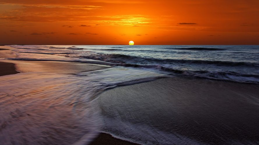sunrise nature waves Argentina crossing Buenos Aires wallpaper
