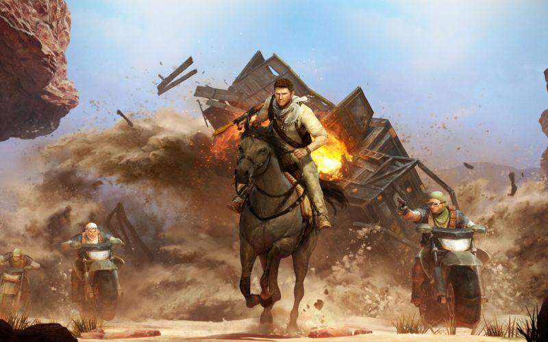 video games Uncharted Nathan Drake deception wallpaper