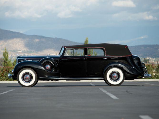 1938 Packard Twelve Convertible Sedan (1608-1153) luxury retro g wallpaper