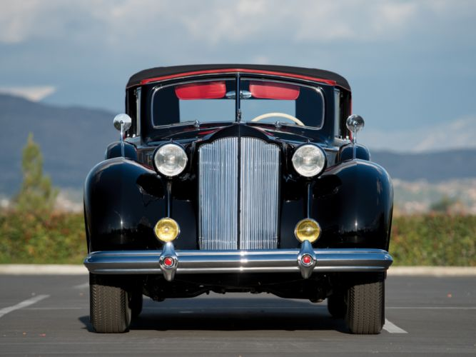 1938 Packard Twelve Convertible Sedan (1608-1153) luxury retro f wallpaper