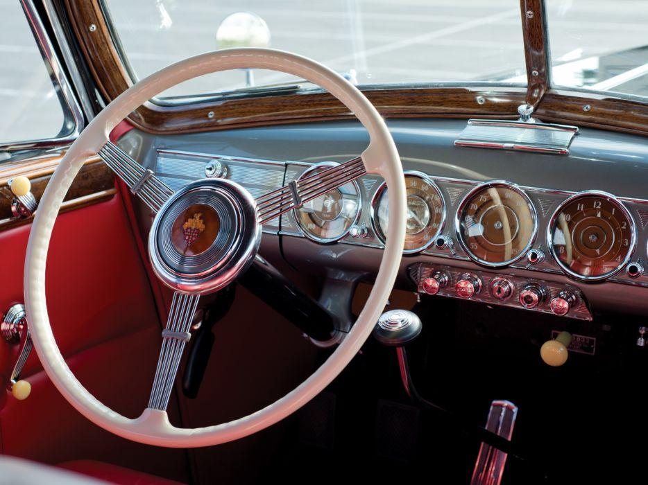 1938 Packard Twelve Convertible Sedan (1608-1153) luxury retro interior   g wallpaper