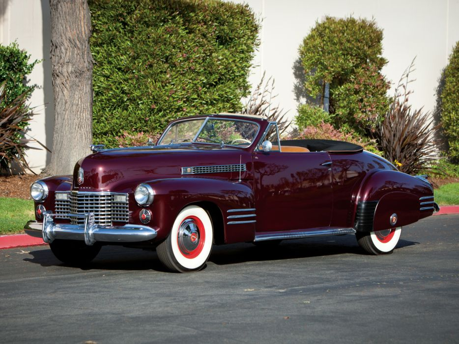 1941 Cadillac Sixty-Two Convertible Coupe luxury retro     h wallpaper