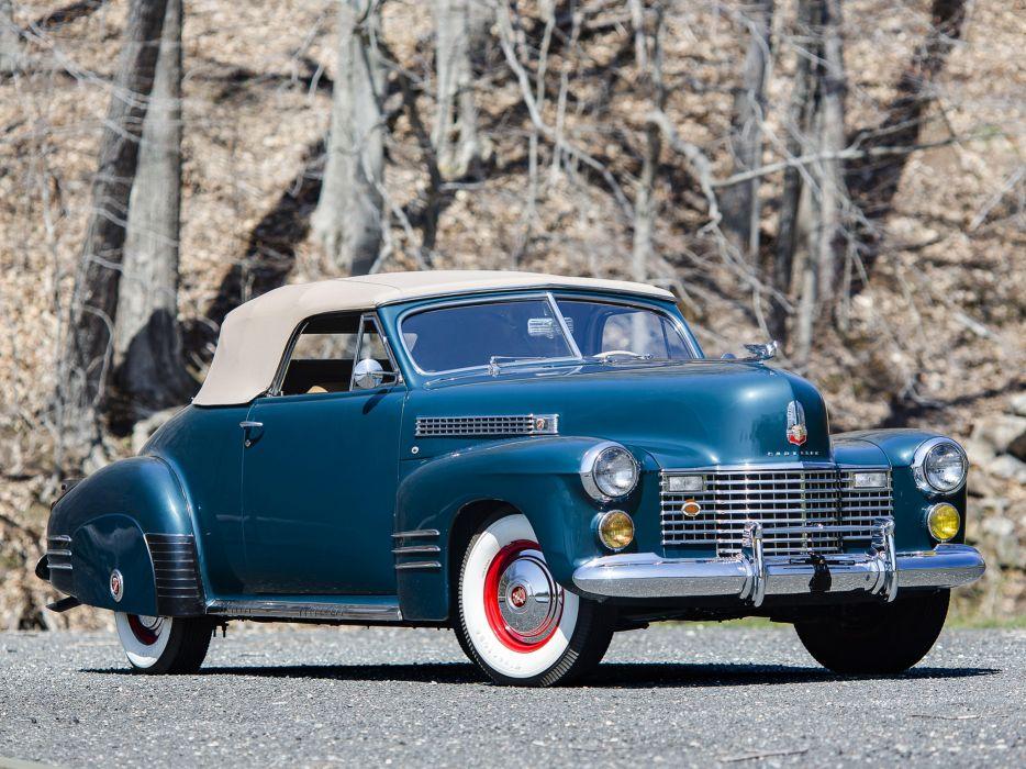 1941 Cadillac Sixty-Two Convertible Coupe luxury retro   e wallpaper