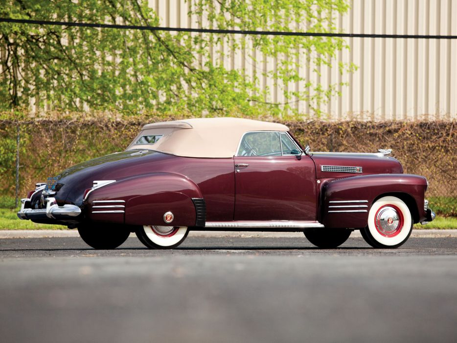 1941 Cadillac Sixty-Two Convertible Coupe luxury retro   ty wallpaper