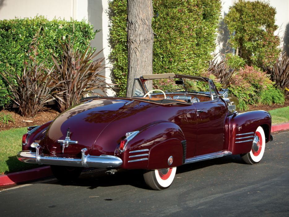 1941 Cadillac Sixty-Two Convertible Coupe luxury retro   he wallpaper