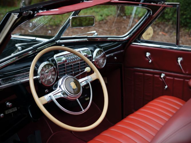 1941 Cadillac Sixty-Two Convertible Coupe luxury retro interior g wallpaper