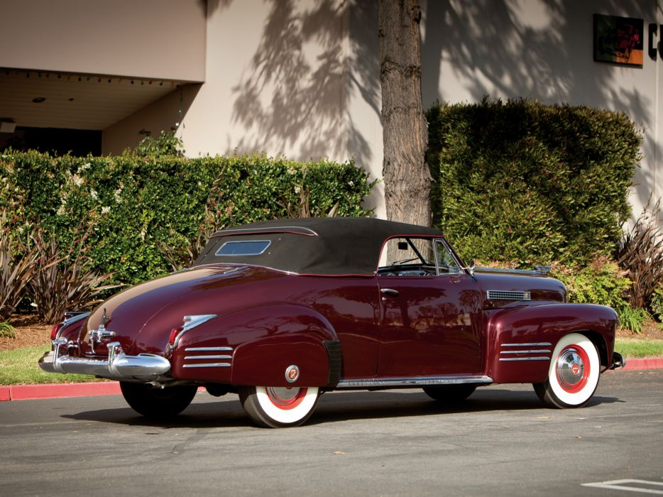 1941 Cadillac Sixty-Two Convertible Coupe luxury retro   n wallpaper