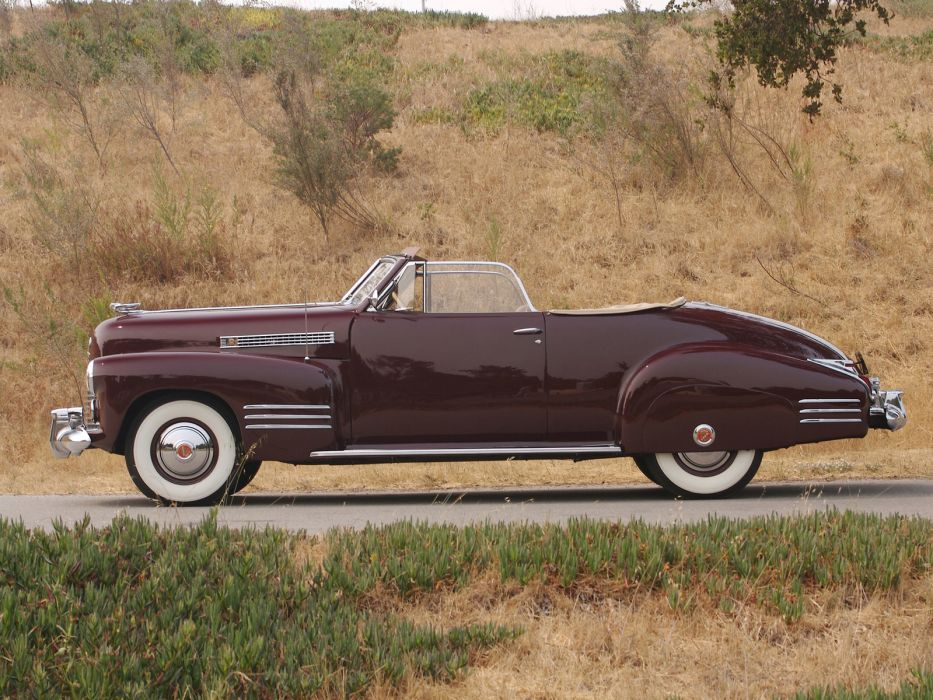 1941 Cadillac Sixty-Two Convertible Coupe luxury retro f wallpaper