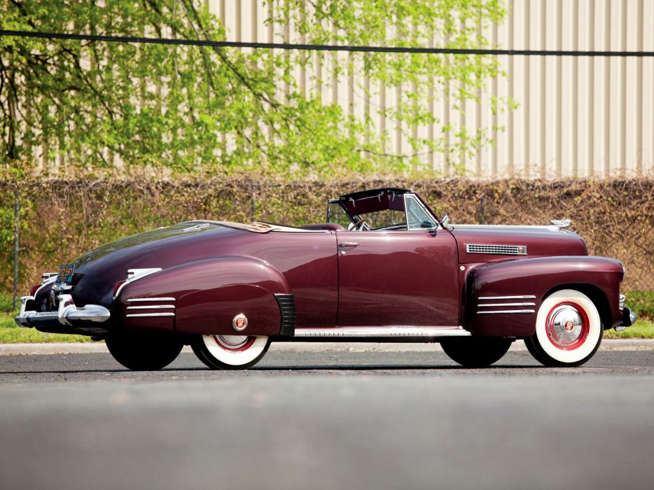 1941 Cadillac Sixty-Two Convertible Coupe luxury retro g wallpaper