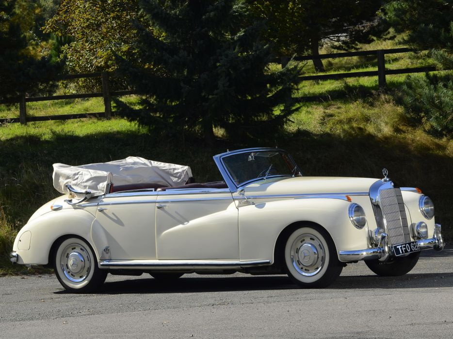 1951 Mercedes Benz 300 Cabriolet D (W186) luxury retro       g wallpaper