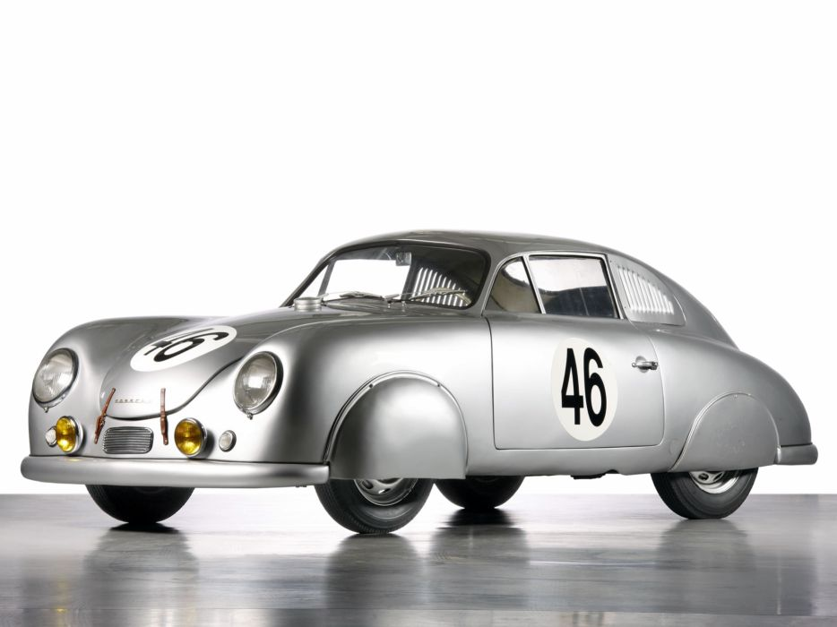 1951 Porsche 356 Light Metal Coupe 514 retro race racing       h wallpaper