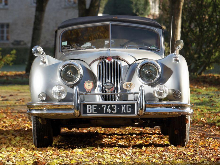 1954 Jaguar XK140 Drophead Coupe retro  t wallpaper