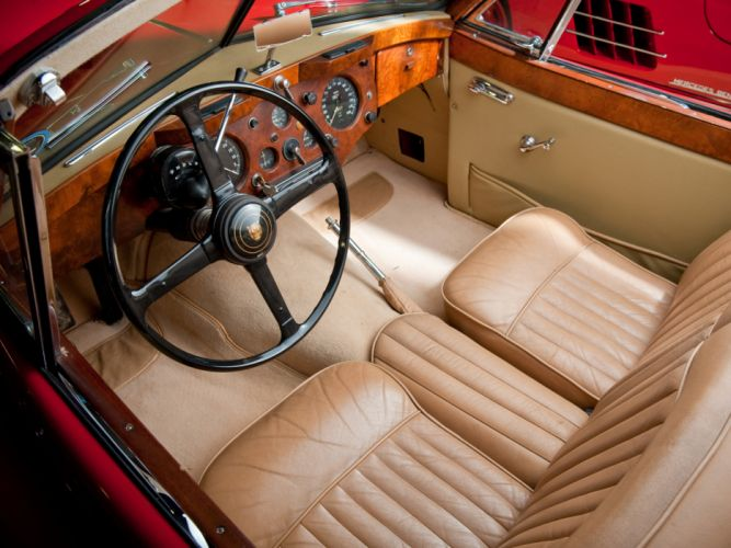 1954 Jaguar XK140 Drophead Coupe retro interior h wallpaper