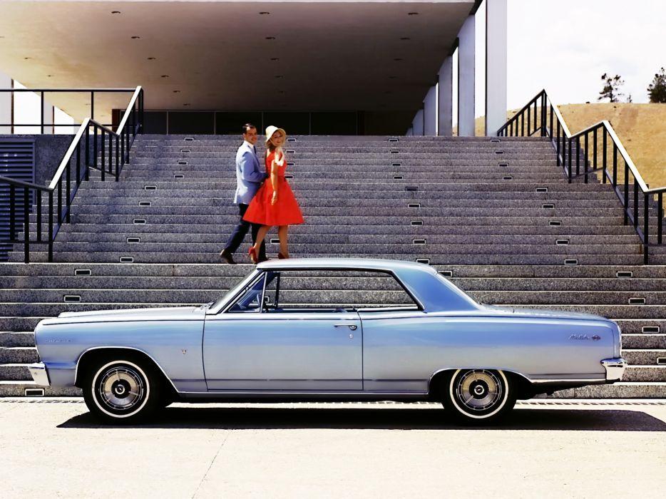1964 Chevrolet Chevelle Malibu S-S Sport Coupe (5758-37) muscle classic      f wallpaper