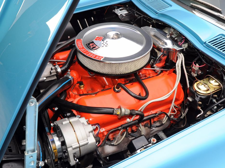 1967 Chevrolet Corvette StingRay L36 427 390HP Convertible (C-2) muscle supercar classic engine         g wallpaper