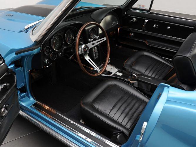 1967 Chevrolet Corvette StingRay L36 427 390HP Convertible (C-2) muscle supercar classic interior h wallpaper