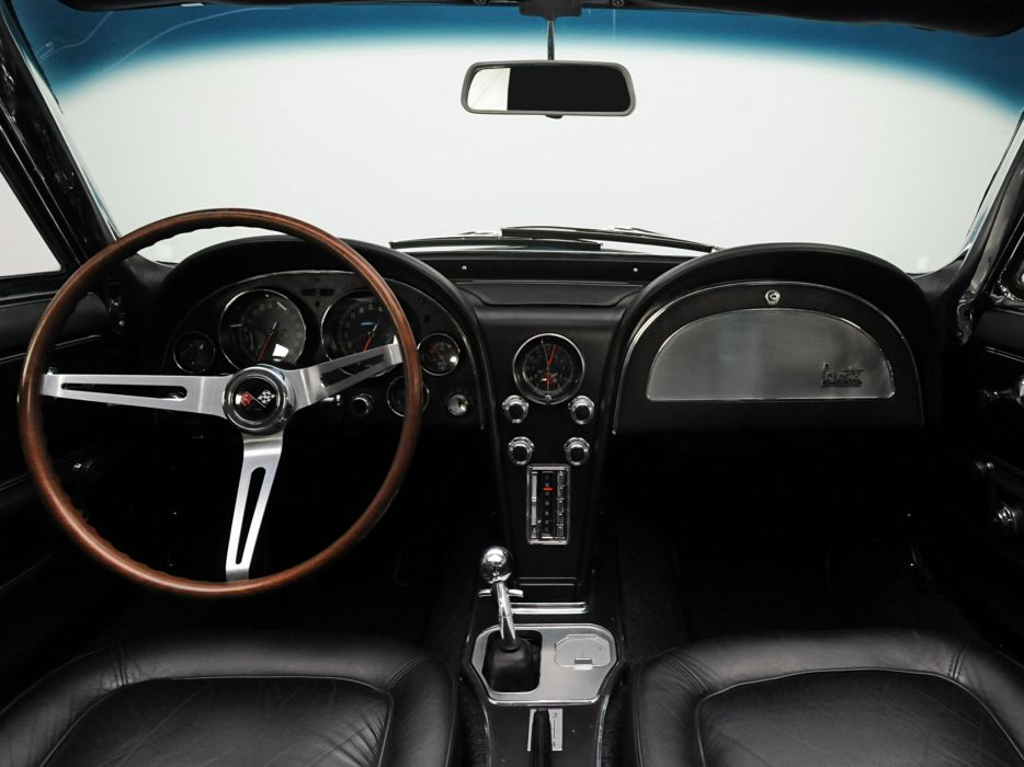 1967 Chevrolet Corvette StingRay L36 427 390HP Convertible (C-2) muscle supercar classic interior      g wallpaper