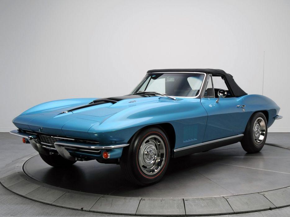 1967 Chevrolet Corvette StingRay L36 427 390HP Convertible (C-2) muscle supercar classic       g wallpaper