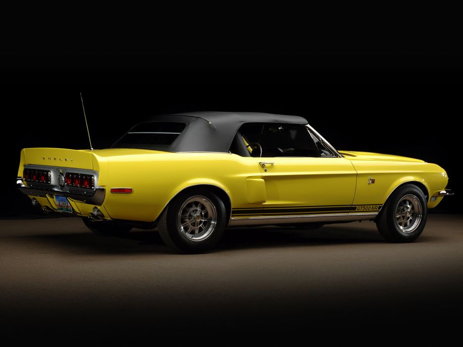 1968 Shelby GT500-KR gt500 convertible ford mustang muscle classic g-t     f wallpaper