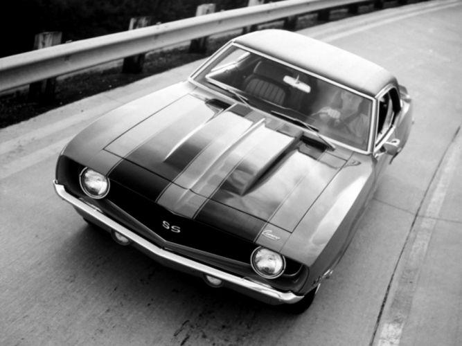 1969 Chevrolet Camaro S-S 396 classic muscle fw wallpaper