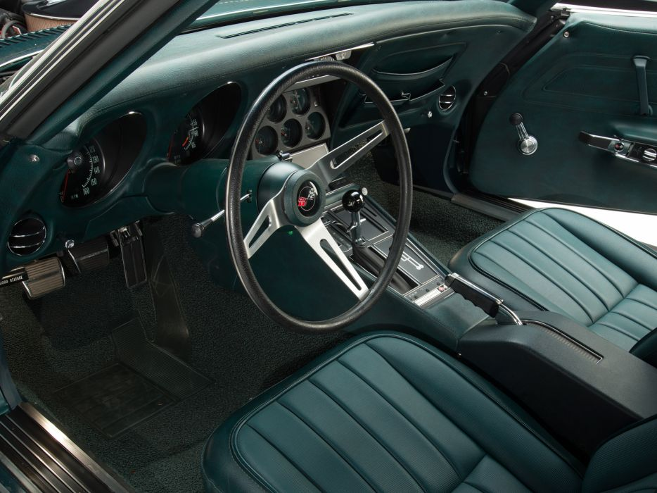 1971 Corvette Stingray ZR-2 LS6 454 425HP (C-3) muscle supercar classic interior     h wallpaper