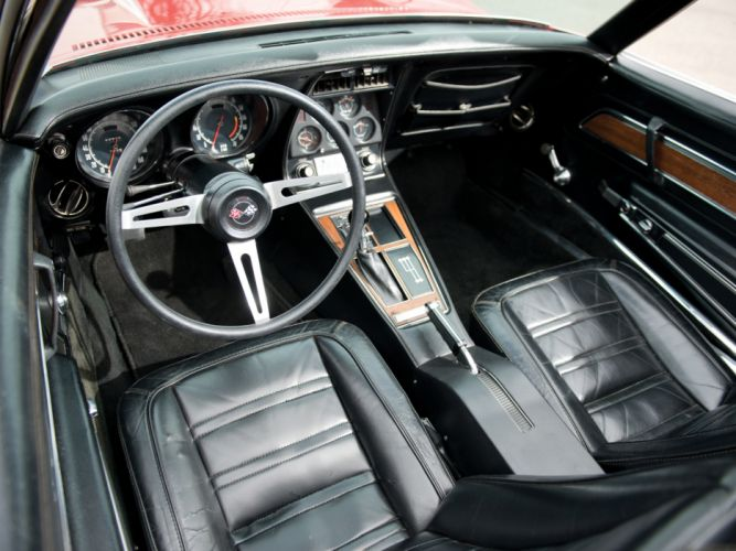 1972 Corvette Stingray LT1 350 255HP Convertible (C3) muscle classic supercar interior g wallpaper