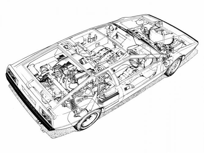 1976 Lotus Esprit supercar interior engine h wallpaper