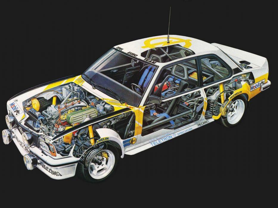 1979 Opel Ascona 400 Rally Version-B race racing interior engine     f wallpaper