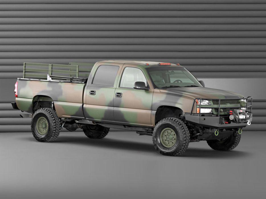 2003 Chevrolet Silverado Crew Cab military pickup 4x4       g wallpaper