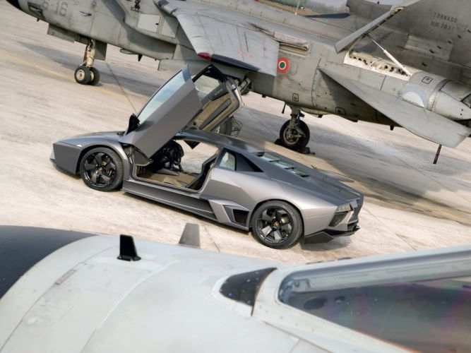 2008 Lamborghini Reventon supercar jet military g wallpaper