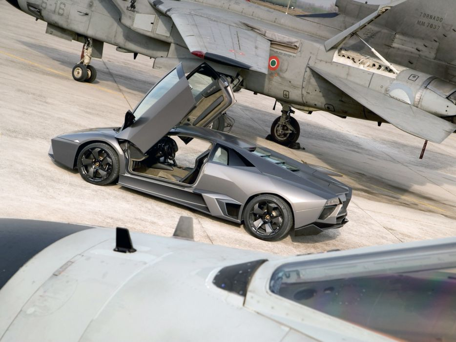 2008 Lamborghini Reventon supercar jet military      g wallpaper