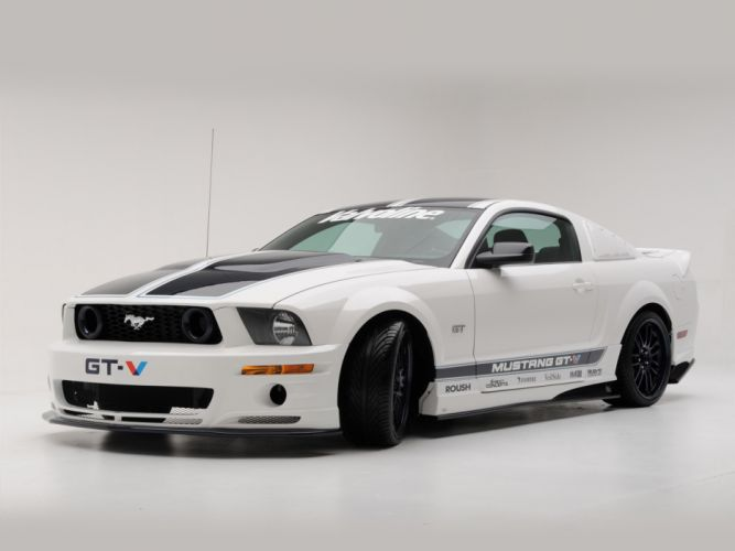2008 Roush Ford Mustang GT-V race racing muscle tuning f wallpaper