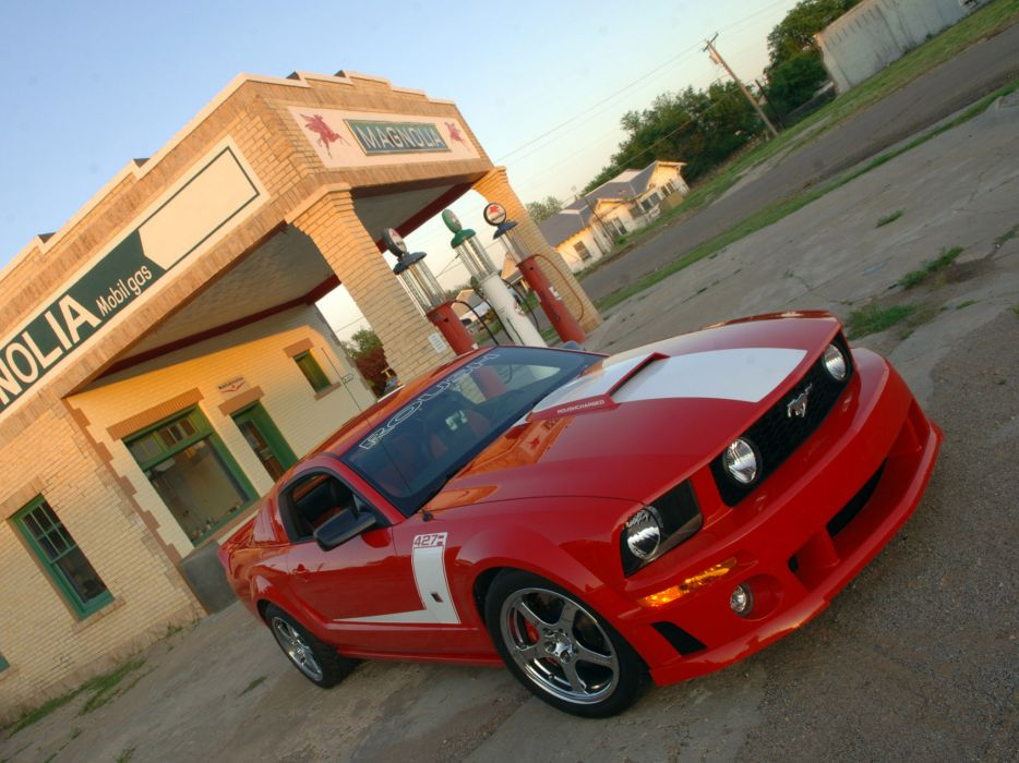 2009 Roush Ford Mustang 427R muscle tuning hot rod rods    y wallpaper