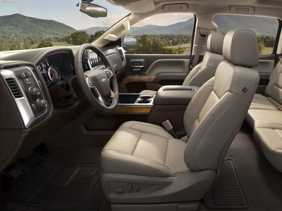 2014 Chevrolet Silverado 3500 H-D CrewCab pickup interior       g wallpaper