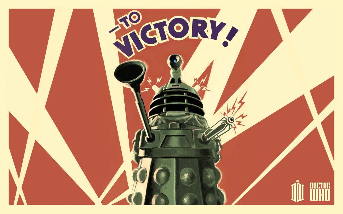 Dalek propaganda Doctor Who posters wallpaper