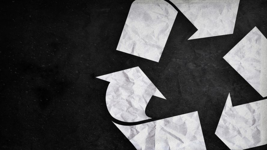 minimalistic recycle logos wallpaper