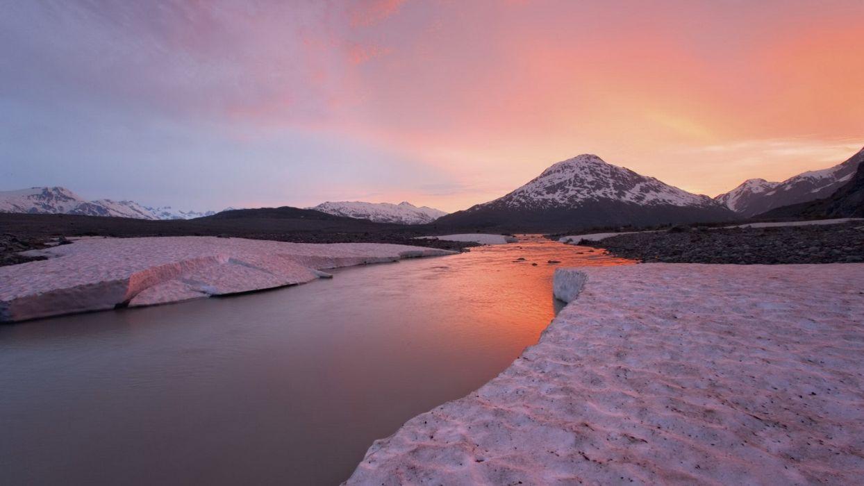 sunset Canada British Columbia rivers wallpaper